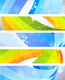 Set of banners. Set of bright banners with 3d element Royalty Free Stock Image