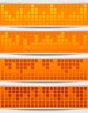 Set Of Banners. Set Of Orange Mosaic Banners Royalty Free Stock Image