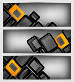 Set of banners with 3d element Royalty Free Stock Photos