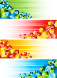 Set of banners with 3d hexagons Stock Photography