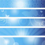 Set of banners. Dimension 350x60 pixels Stock Images