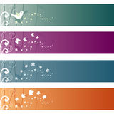 Set of Banners. Set of four elegant banners Stock Images