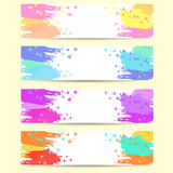 Set of  abstract banners. Set of  banners, abstract headers with varicolored blots. Vector illustration Royalty Free Stock Image