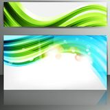 Set of banners with abstract lines Royalty Free Stock Photo