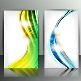 Set of banners with abstract lines Royalty Free Stock Image
