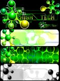 Set of banners with an abstract pattern and the chip. (Vector) Stock Images