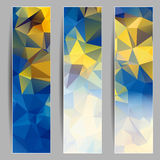 Set of banners with abstract triangles Stock Photography