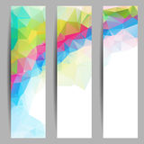 Set of banners with abstract triangles Royalty Free Stock Photography