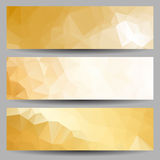 Set of banners with abstract triangles Stock Photo