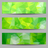 Set of banners with abstract triangles Stock Image