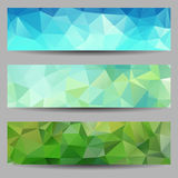 Set of banners with abstract triangles Stock Images