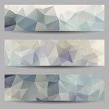 Set of banners with abstract triangles Royalty Free Stock Photos