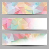 Set of banners with abstract triangles Royalty Free Stock Images