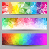 Set of banners with abstract triangles Royalty Free Stock Photo