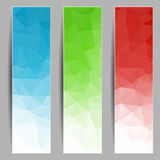 Set of banners with abstract triangles Stock Photos