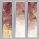 Set of banners with abstract triangles Royalty Free Stock Image