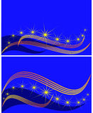 Set of banners against the star sky, Stock Image