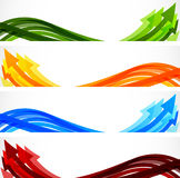 Set of banners with arrows Stock Photos