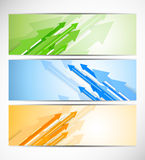 Set of banners with arrows Stock Photo