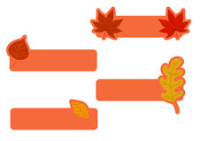 Set of banners with autumn leaves Stock Images