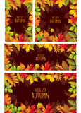 Set of banners of autumnal leaves Royalty Free Stock Photos