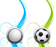 Set of banners with balls Stock Photo