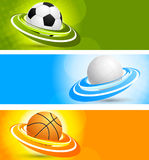 Set of banners with balls Royalty Free Stock Images