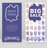 Set of banners for black friday sale with geometric design Royalty Free Stock Photo
