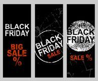 Set of banners. Black Friday Sale price banner Royalty Free Stock Image