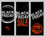 Set of banners. Black Friday Sale price banner Royalty Free Stock Photo