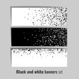 Set of banners with black and white circle background Royalty Free Stock Image