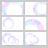 Set of banners with blue-pink round elements Royalty Free Stock Images