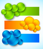Set of banners with bubbles Royalty Free Stock Photo