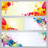 Set of banners and business cards with blots Stock Photo