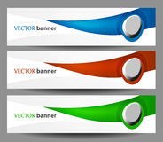 Set  banners with buttons Stock Photo