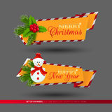 Set of banners for Christmas and New Year holidays Stock Photo