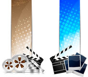 Set of banners with cinema element Royalty Free Stock Photo