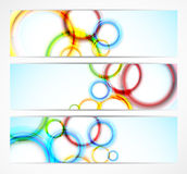 Set of banners with circles Stock Image