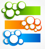 Set of banners with circles Royalty Free Stock Image