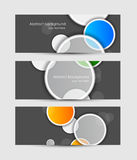 Set of banners Royalty Free Stock Photo