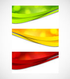 Set of banners with circles Royalty Free Stock Photography