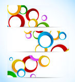 Set of banners with circles Royalty Free Stock Images