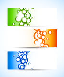 Set of banners with circles Royalty Free Stock Photos
