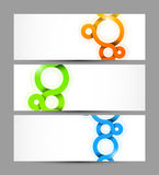 Set of banners with circles. Abstract illustration Stock Images