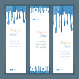 Set banners with clorful seamless dripping pain Stock Images
