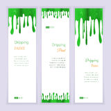 Set banners with clorful seamless dripping pain Stock Photo