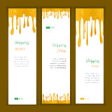 Set banners with clorful seamless dripping pain Royalty Free Stock Photography
