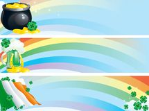 Set banners of  clover leaves Royalty Free Stock Photo