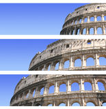 Set of banners with Coliseum Stock Photos