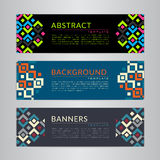 Set banners collection with abstract geometric backgrounds. Design templates for your projects. Vector illustration Royalty Free Stock Photo